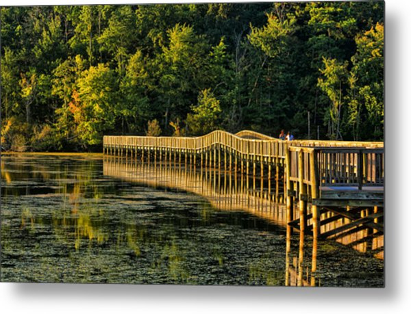 Crossing Into Autumn  Metal Print
