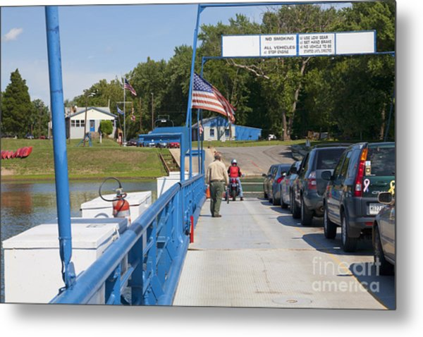 Crossing The Potomac On White's Ferry From Virginia To Maryland Metal Print by William Kuta