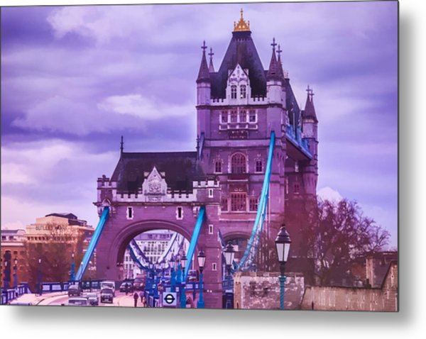 Crossing The Bridge Metal Print
