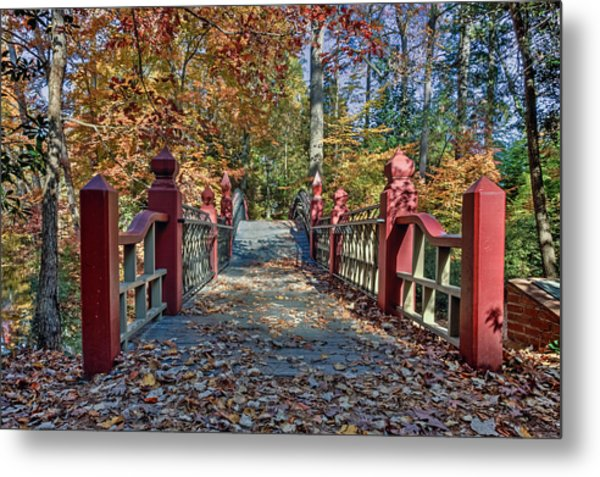 Crossing The Crim Dell Bridge II Metal Print