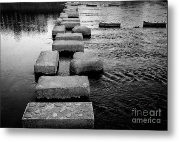 Crossing The Kamo River Metal Print