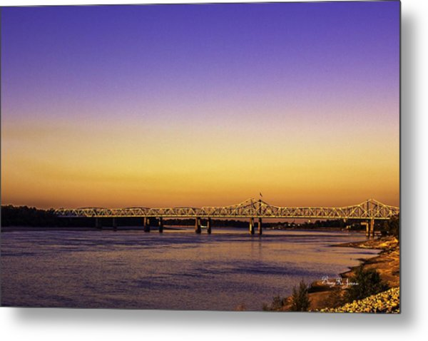 Crossing The Mississippi Metal Print by Barry Jones