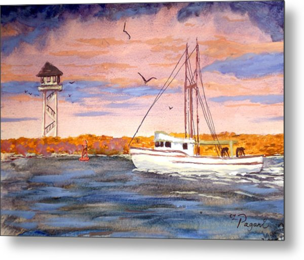 Crossing The Tillamook Bay Bar Metal Print