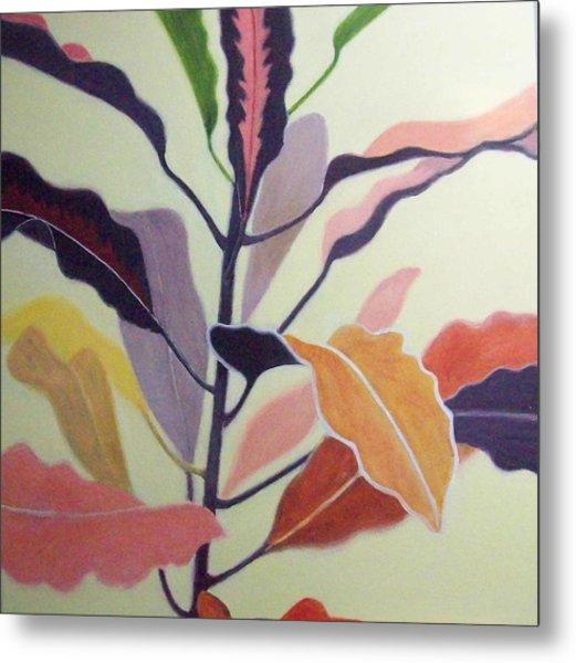 Croton Metal Print by Mary Adam