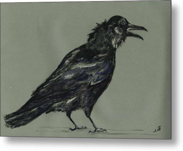 Crow Metal Print by Juan  Bosco