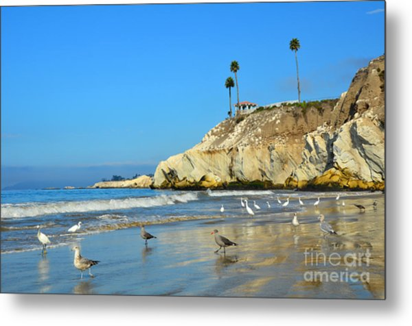 Crowded Beach Metal Print