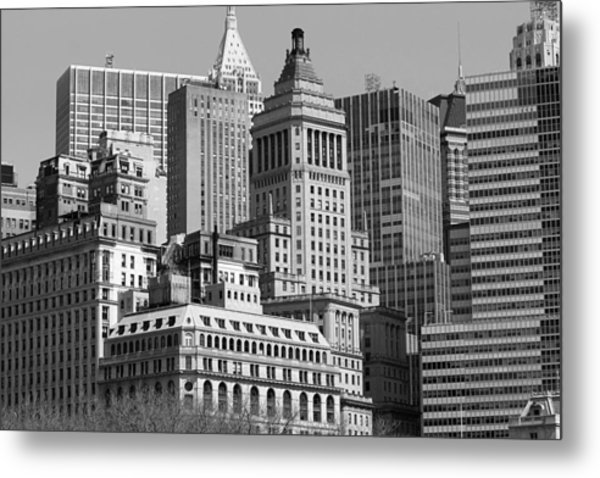 Crowded City Ny Metal Print by Thomas Fouch