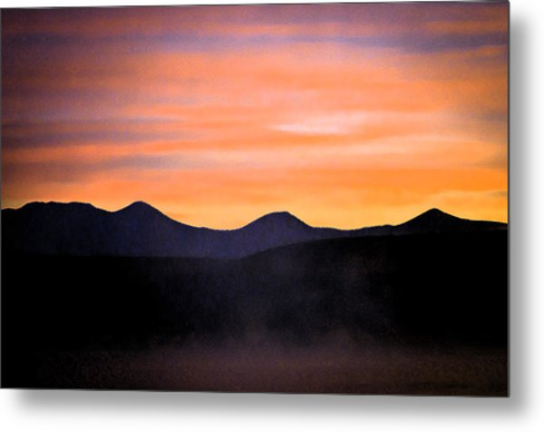 Crowley Lake Sunrise Metal Print by Sherri Meyer
