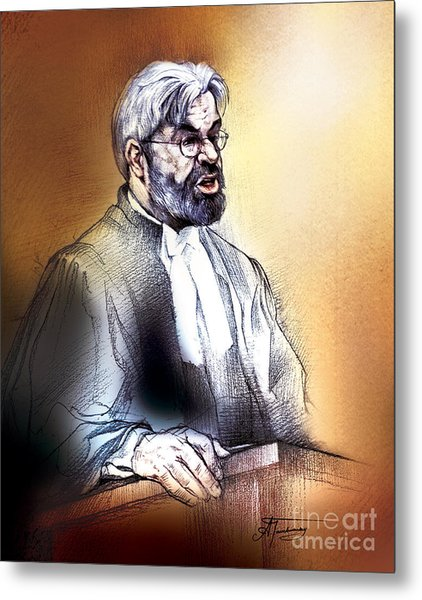 Crown Attorney Jim Hughes At His Closing Address During Paul Poby Trial Metal Print