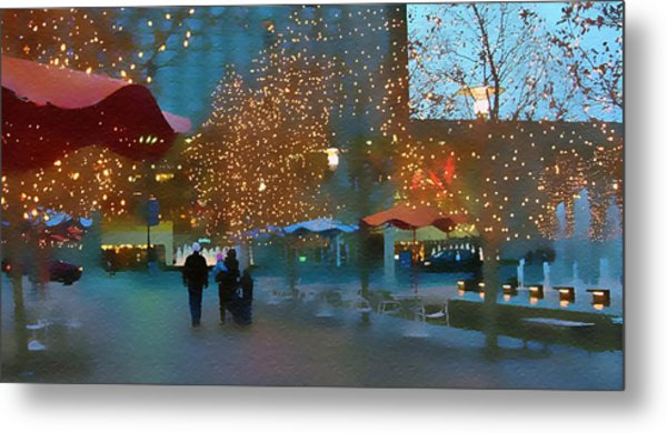 Crown Center Christmas Metal Print