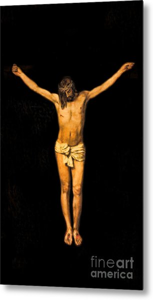 Crucifixion Of Jesus Christ Metal Print by Lee Dos Santos