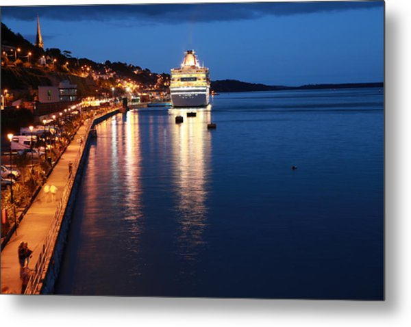 Cruise Liner At Cobh Harbour Metal Print by Maeve O Connell