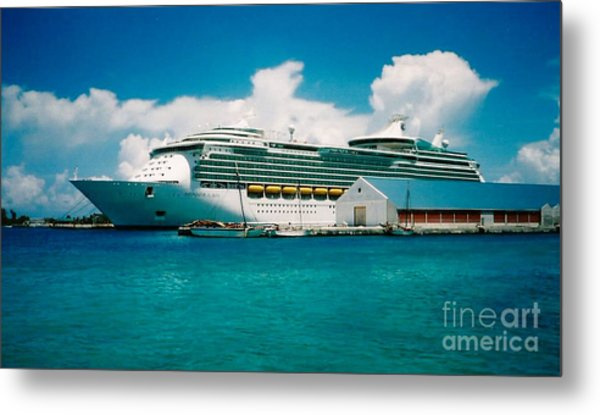 Cruise Ship Art Metal Print