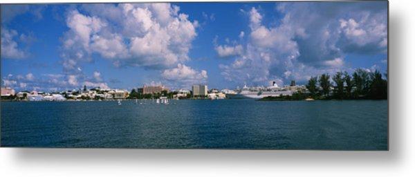 Cruise Ships Docked At A Harbor Metal Print