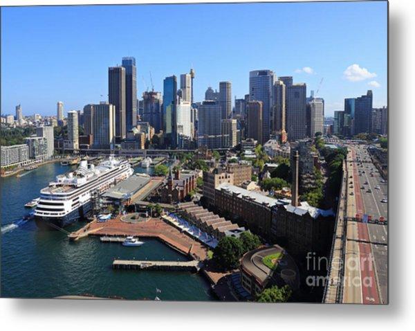 Cruiser Ship In Sydney Metal Print