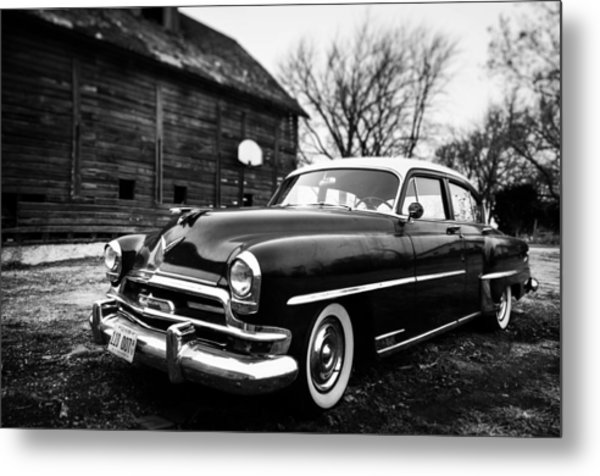 Cruisin' The Farm Metal Print