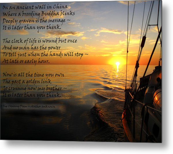 Cruising Poem Metal Print