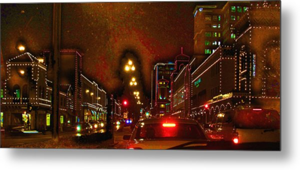 Cruzin View Of The Plaza Metal Print