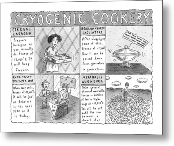 Cryogenic Cookery Metal Print