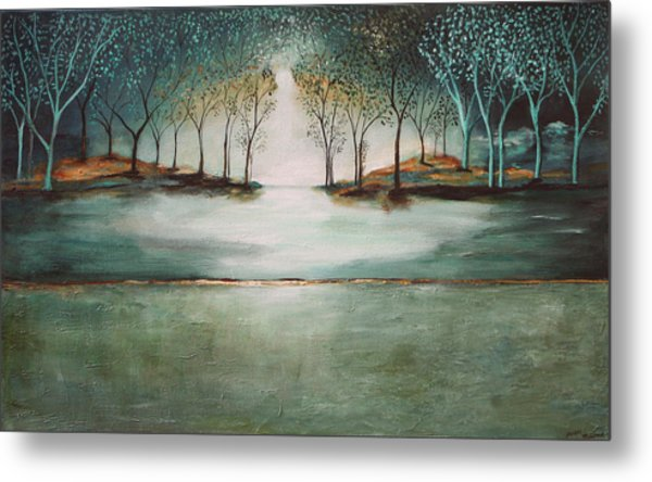 Crystal Forest Metal Print