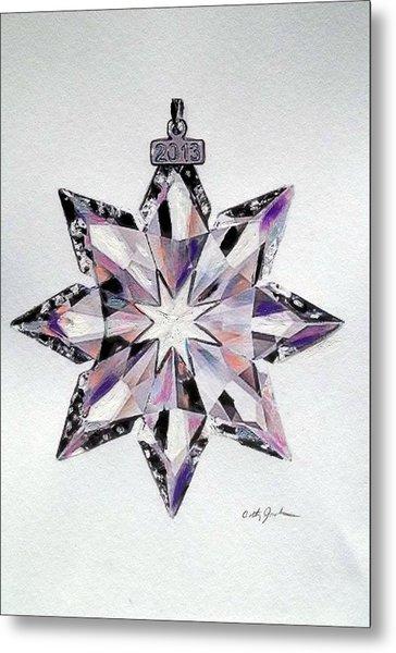 Crystal Ornament Metal Print