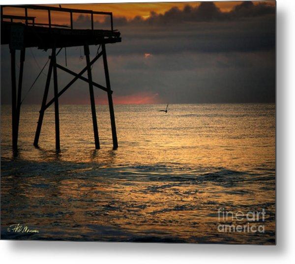 Crystal Pier Sunrise Metal Print