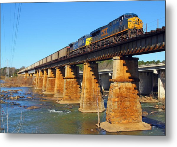 Csx Over Riverfront Park Metal Print