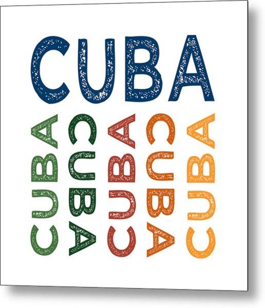 Cuba Cute Colorful Metal Print