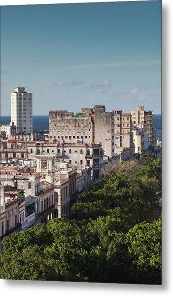 Cuba, Havana, Havana Vieja, Buildings Metal Print by Walter Bibikow