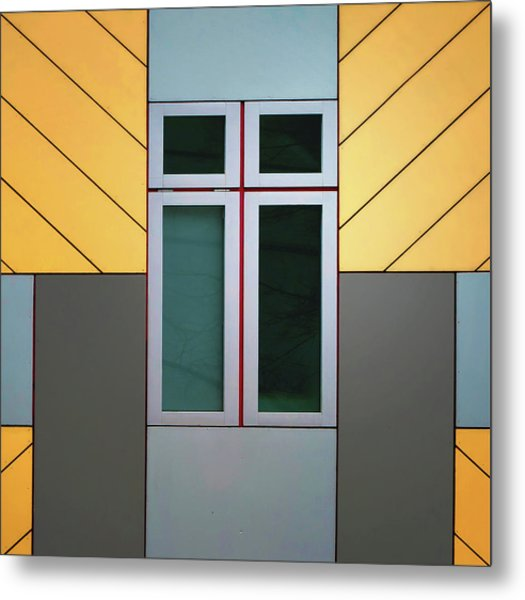 Cube House Metal Print