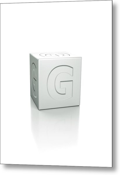 Cube With The Letter G Embossed Metal Print by David Parker/science Photo Library