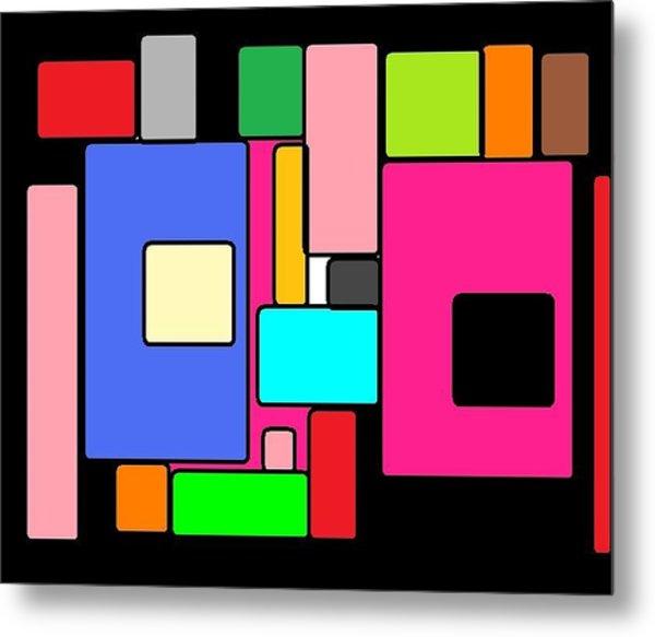 Cubes 67 Metal Print