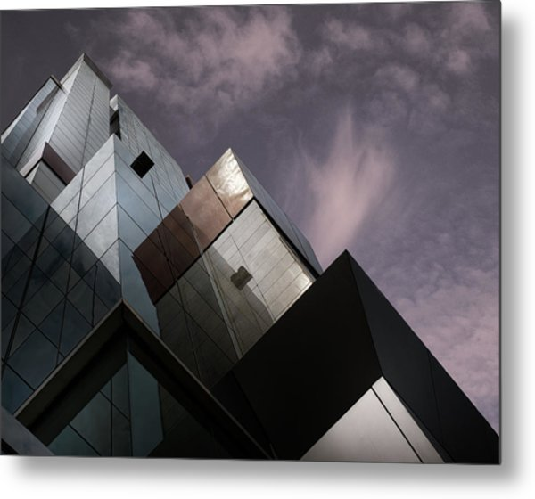 Cubic Reflection. Metal Print by Harry Verschelden