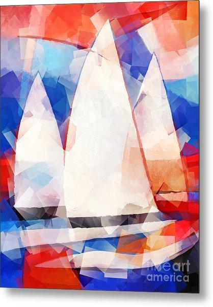 Cubic Sails Metal Print