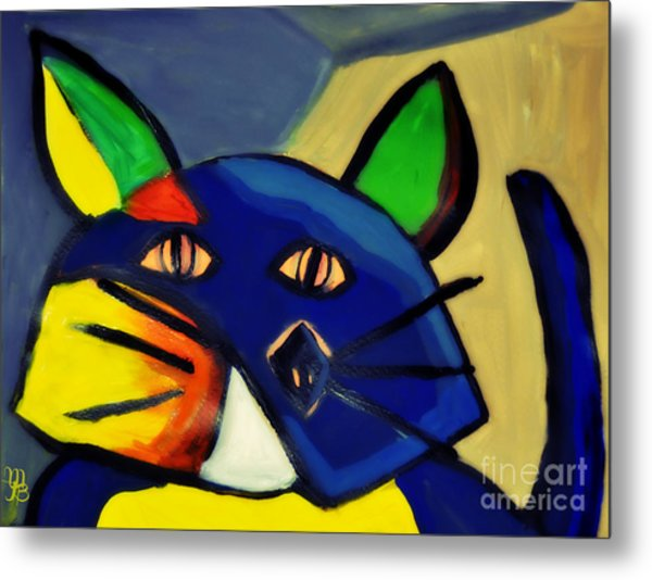 Cubist Inspired Cat  Metal Print