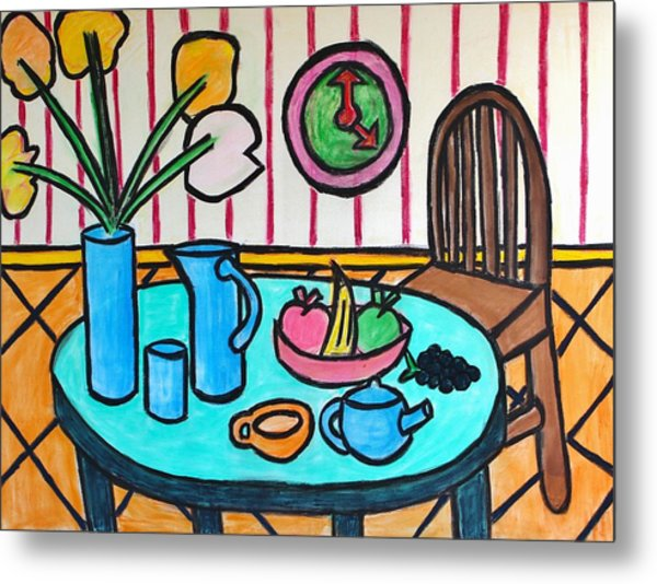 Cubist Lunch Metal Print