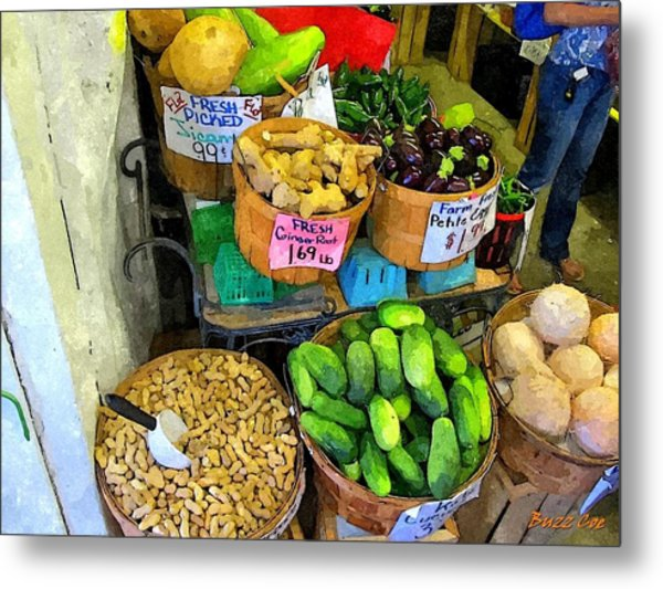 Cucumbers Peanuts And Melon Metal Print by Buzz Coe