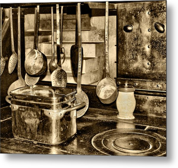Cuisine At Chenonceau Metal Print