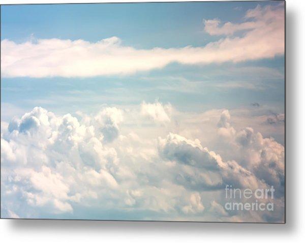 Cumulus Clouds Metal Print