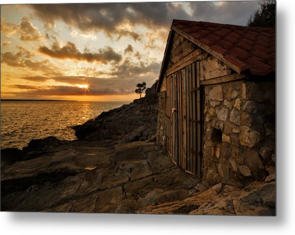 Cunski Beach At Sunrise Metal Print