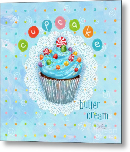 Cupcake-butter Cream Metal Print