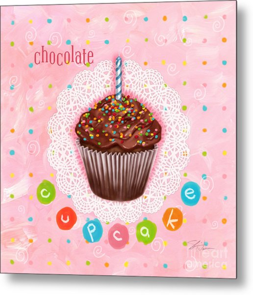 Cupcake-chocolate Metal Print
