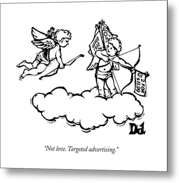 Cupid's Twin Shoots Coupons From Up On A Cloud Metal Print