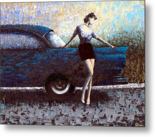 Curb Appeal Metal Print by Ned Shuchter