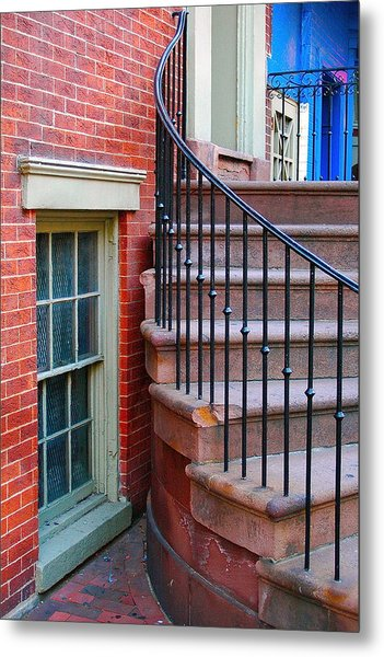 Curbside View Metal Print by Mark Lemon