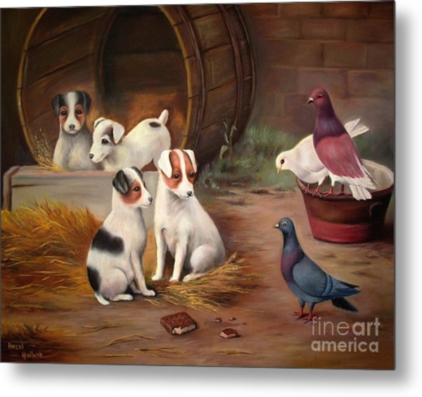 Curious Friends Metal Print
