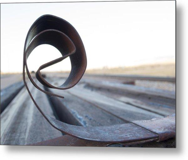 Curled Steel Metal Print