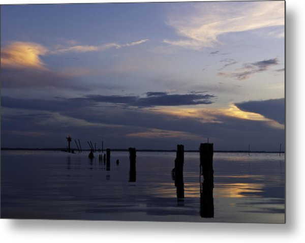 Currituck Sound Sunset Metal Print