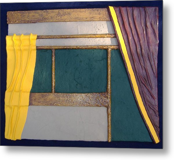 Curtain Metal Print
