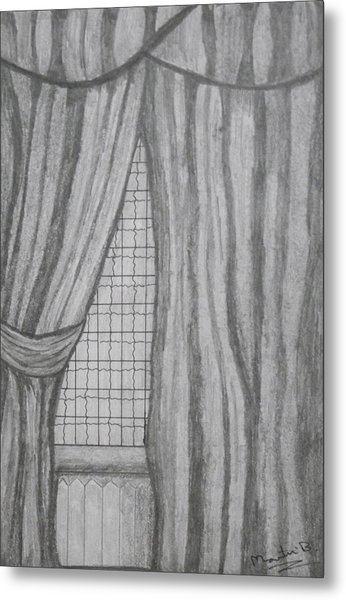 Curtains In A5 Metal Print